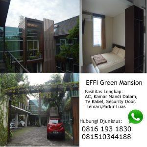 kost putri eksklusif dekat UGM di Jogja Effi Green Mansion