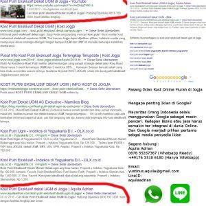 Iklan Kost Online Murah di Jogja